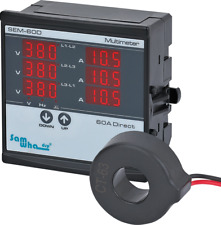 Digital Multimeter Contains 3 Ct Three Phase Sequence Ampere Voltage Display