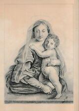 DESSIN ANCIEN XIX ème - OLD MASTER DRAWING -VIERGE A L'ENFANT DESSIN AU CRAYON