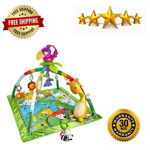 Kids Toddler Supplies Playset Fisher-Price Rainforest Music & Lights Deluxe Gym