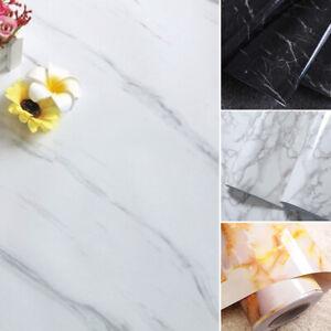Waterproof Marble Effect Vinyl Film Self  Contact Paper Wall Covering