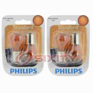2 pc Philips Front Inner Turn Signal Light Bulbs for Seat Alhambra 2002-2008 ui