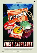 Exoplanet Pegasi Vision of the Future NASA Awesome Space Tourism Travel Posters