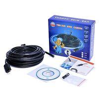 7 M Endoskop Video Rohrkamera 6LED USB Inspektionskamera Wasserdicht Kanalkamera