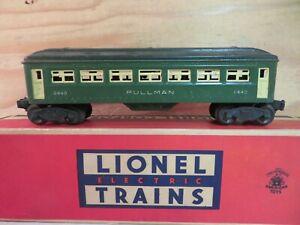 LIONEL TRAIN POSTWAR GREEN PULLMAN COACH RAILROAD PASSENGER CAR 6440