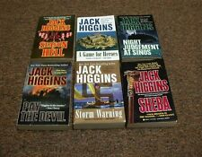 JACK HIGGINS, 6 books A GAME FOR HEROES, PAY THE DEVIL, STORM WARNING, SHEBA