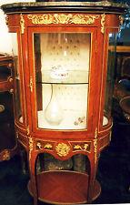 VITRINEN GLAS MARKETERIE MARMOR SCHRANK SCHMUCK MÖBEL GOLD APPLIKEN antik 18 19?