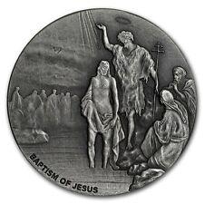 BAPTISM OF JESUS - 2017 2 oz Silver Coin - Biblical Series Scottsdale Mint NIUE