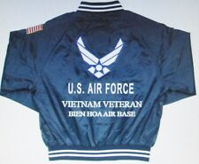 BIEN HOA AIR BASE *VIETNAM VETERAN* AIR FORCE EMBROIDERED 2-SIDED SATIN JACKET