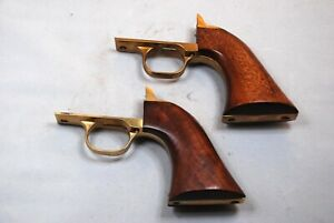 A Pair of EXCELLENT Pietta Navy TriggerGuard/Backstrap Assemblies with Wood
