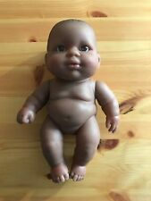 "11"" Berenguer Glass Brown Eyes Black New Born Baby sweet Small Size Afro America"