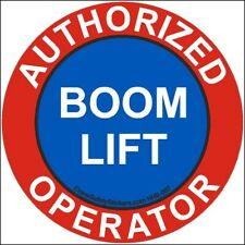 Authorized Boom Lift Operator Hard Hat Decal