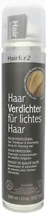 Hairfor2 Mittelblond Haarverdichter Haarauffüller 300ml Sprühhaar Cover