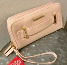 RAMPAGE Women's Wallet 2 in 1 Wristlet Double Zip Around Pink Faux Leather NWT
