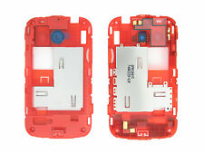Genuine HTC Desire C Red Middle Cover / Chassis Black Camera Ring - 74H02228-03M