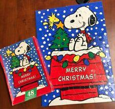 *COMPLETE* Springbok Peanuts Snoopy's Christmas 48 Interlocking Piece Puzzle