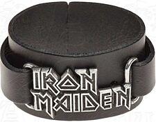 Iron Maiden logo leather wriststrap   (ro)
