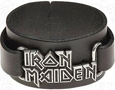 Iron Maiden Logo Cuir Bracelet (Ro )