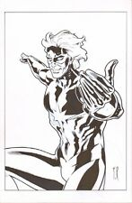 Captain Marvel Commission - Signed art by Stephane Roux Comic Art