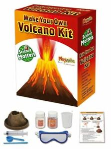 MAKE YOUR OWN VOLCANO SCIENCE MODEL KIT TOY SET ERUPTING VOLCANO New New