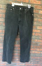 Levis Strauss & Co 36 x 32 Black Denim Pants 505 Dad Jeans Cotton Straight Leg