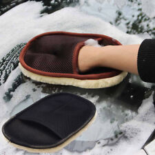 Faux Wool Wash Mitt Ultra Plush Deep Pile Car Cleaning Glove Mit Wash Wax Mitten