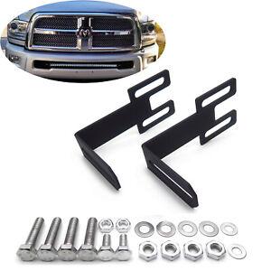 """For Dodge Ram 03-up 2500/3500 42"""" Straight LED Light Bar Hidden Bumper Bracket"""