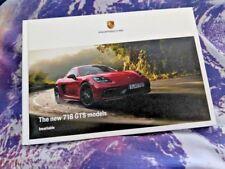 Porsche 718 GTS - 10/17 - UK Brochure - 52 pgs - Hardback