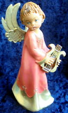 Fontanini Depose Italy #162 Angel Playing Lyre Crab Mark Figurine 1993 Rare Exlt
