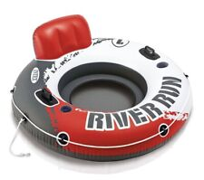 Intex River Run I Outdoor Lake Inflatable Water Sport Lounge Float Tube Fire Red