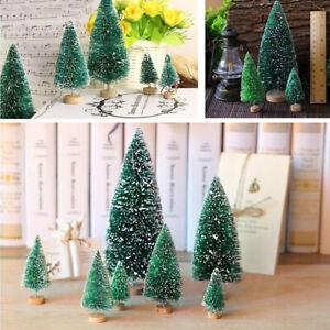 5Pcs Mini Christmas Tree Small Pine Tree Ornaments Xmas Home Party Decoration