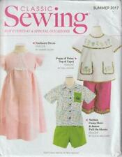 Child Toddler Classic Sewing Pattern Darling Summer Outfits SIze 2 to 8