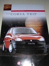 ORIGINAL VAUXHALL CORSA TRIP SALES BROCHURE 1996