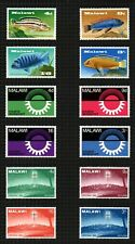 """Malawi 1966 """"Christmas"""" sg273/6, 1967 """"Cichlids"""" sg281/4 & """"Industrial"""" sg285/8."""
