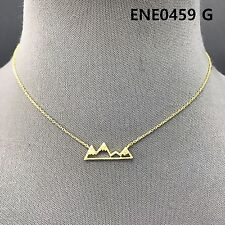 Shape Pendant Necklace Ene0459 G Simple Gold Finished Chain Mini Mountain
