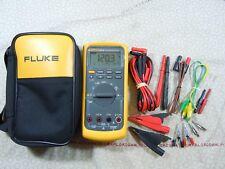 FLUKE 87V TRMS MULTIMETER KIT WITH LEADS  + TEMP PROBE + FLUKE CASE - 57838.