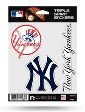 New York Yankees Triple Spirit Sticker Sheet Die Cut Decal Team Color Logos