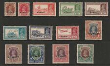 Kuwait 1939 George VI Complete set SG 36-51 Mnh/ toned gum.
