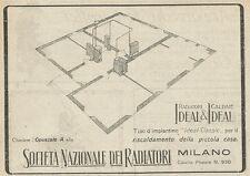 W3738 Società Nazionale dei Radiatori - Milano - Pubblicità 1925 - Advertising