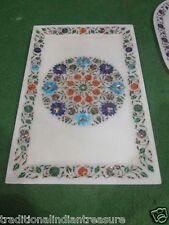 "10""x18"" Marble Big Trays Tray Serving Dishe Inlay Pietra Dura Columbus Day Decor"
