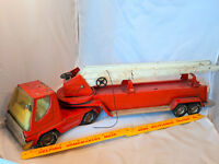 "Nylint Metal Fire Department Truck Toy Hook n Ladder VTG 30""x8""x6"" Pressed Steel"