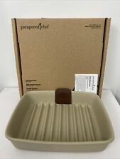 Pampered Chef Stoneware Small Ridged Baker 1342 Grill Baker USA