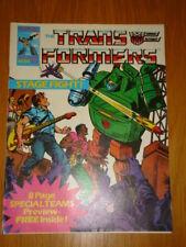 TRANSFORMERS BRITISH WEEKLY #54 MARVEL UK COMIC 1986