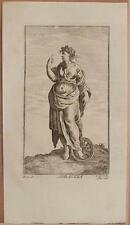 XILOGRAFIA ADRASTEA NINFA MITOLOGIA DECLAUSTRE 1700 ORIGINALE MYTHOLOGY ZABALLI
