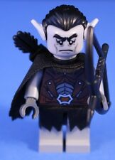 LEGO® THE HOBBIT™ GRAY / PALE ORC BOWMAN Custom Minifigure + Gray POINTED EARS