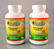 Policosanol + Coq10, heart health, cholesterol ~ 200(2x100) capsules Made in USA