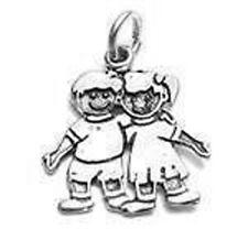 925 Sterling Silver Boy & Girl Hugging Charm