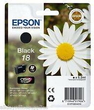 Epson 18 Daisy Black Original Genuine Ink Cartridge T1801 Epsom 18 Daisy Ink