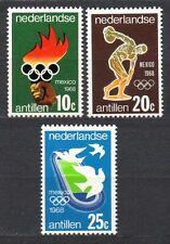 Dutch Antilles - 1968 Olympic games Mexico Mi. 187-89 MNH