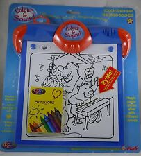 KIDS COLOUR & SOUND-COLOURING ELECTRONIC CLIPBOARD +1 FREE REFILL PAD BY FLAIR