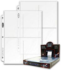 50 - 4 Pocket 3.5 x 5.25 Photo Postcard Protector BCW Pro4T - fits 3 ring binder